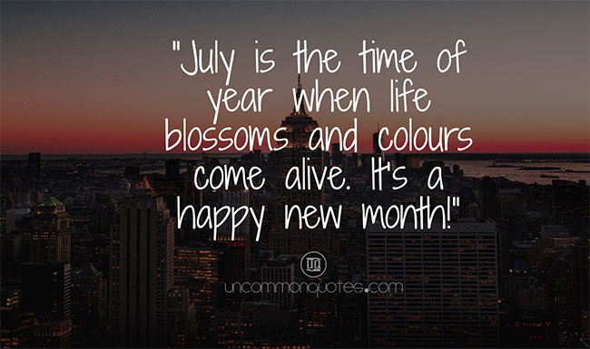 july month quotes for calendars