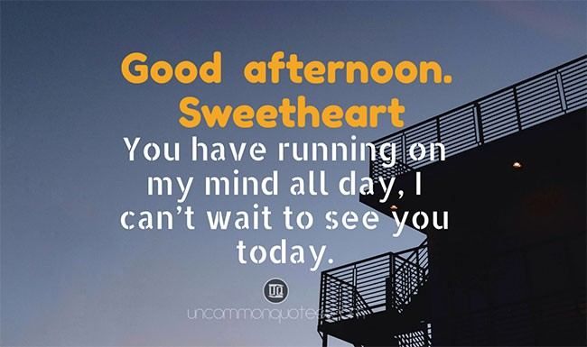 Good Afternoon Text for Him