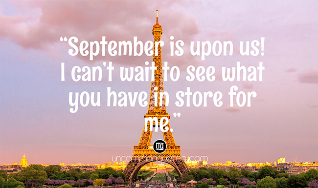 Welcome September Sayings